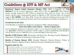guidelines @ epf mp act