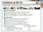 guidelines @ esi act1