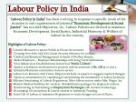labour policy in india