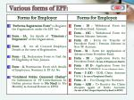 various forms of epf