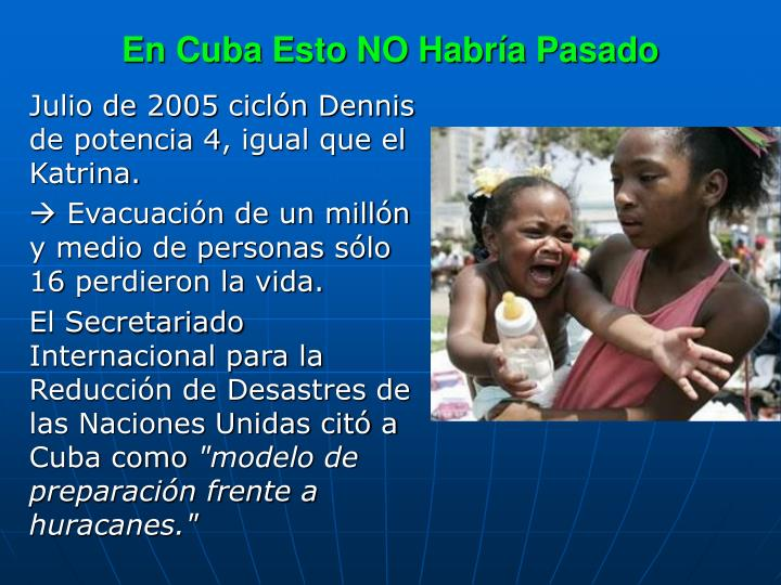 En Cuba Esto NO Habría Pasado