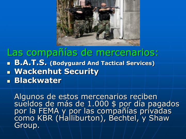 Las compañías de mercenarios: