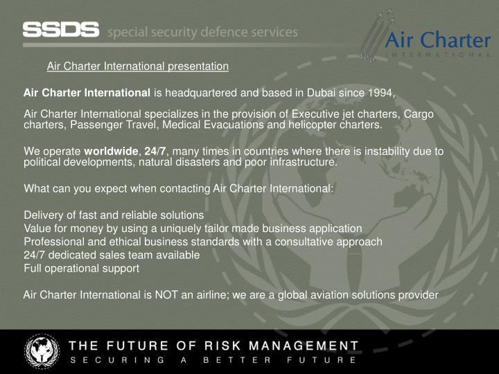 Air Charter International presentation