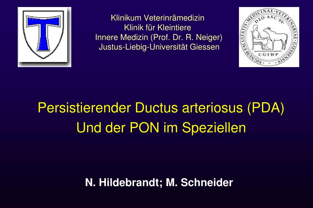 PPT - Persistierender Ductus arteriosus (PDA) Und der PON im ...