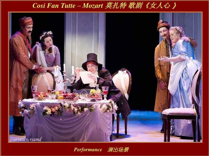 Cosi Fan Tutte – Mozart