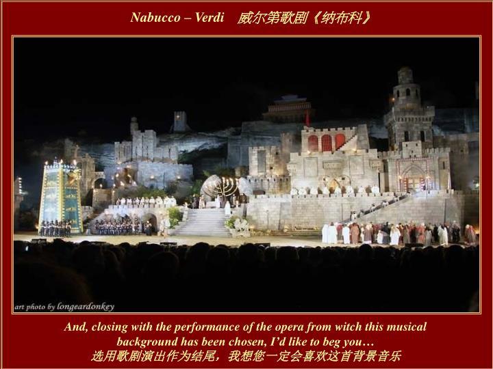 Nabucco – Verdi