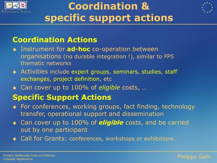 Coordination &