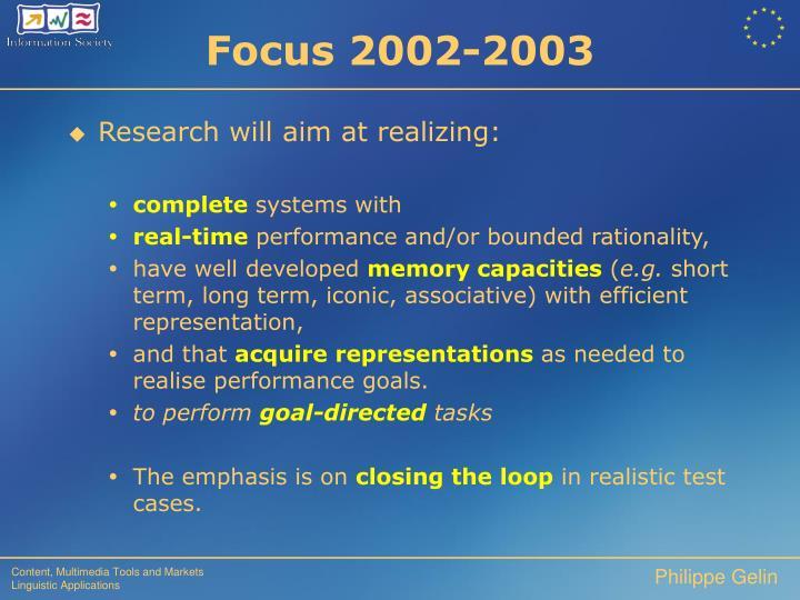 Focus 2002-2003