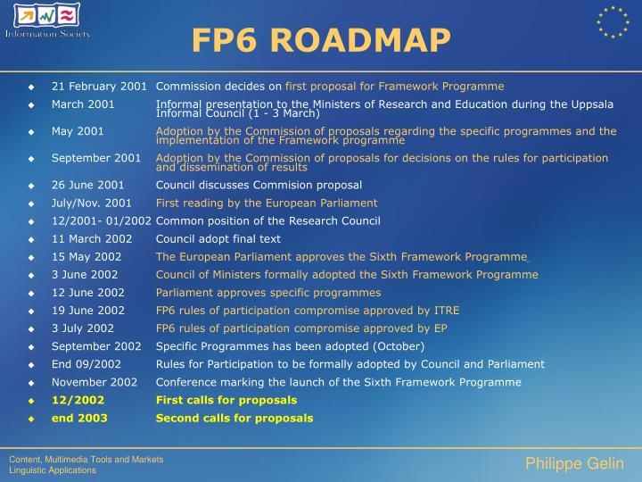 FP6 ROADMAP