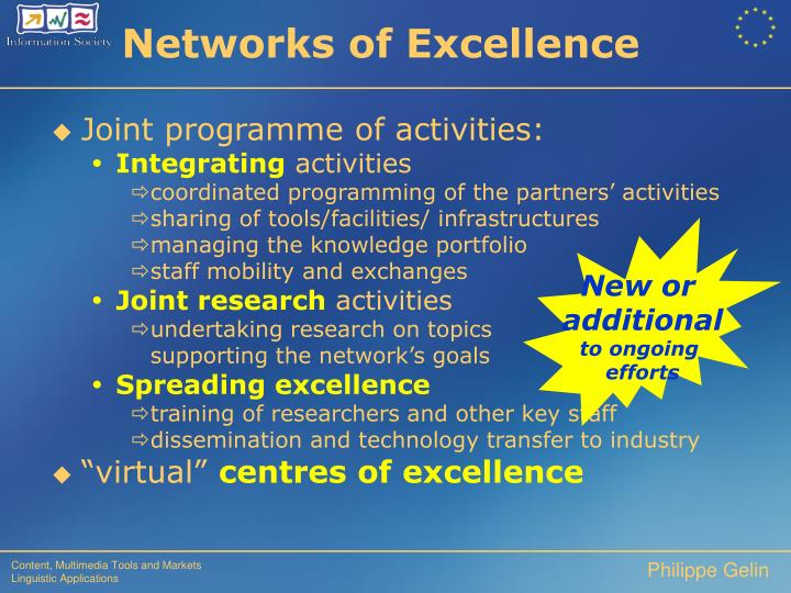 Networks of Excellence