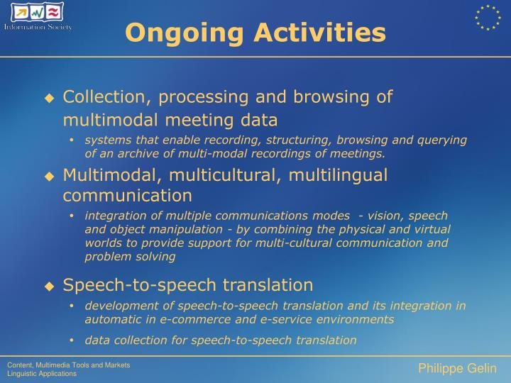 Collection, processing and browsing of multimodal meeting data