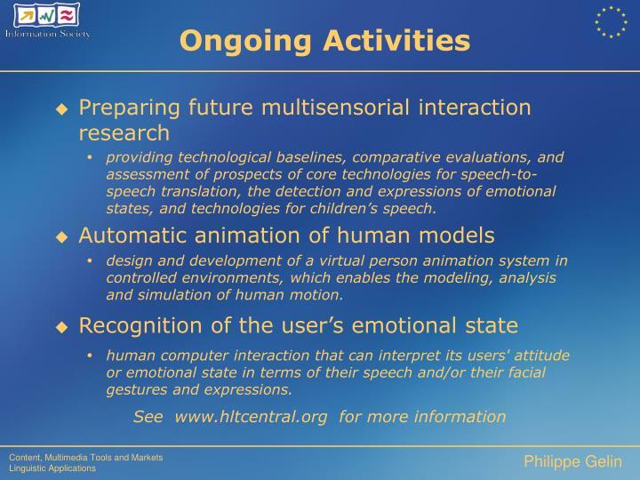 Preparing future multisensorial interaction research