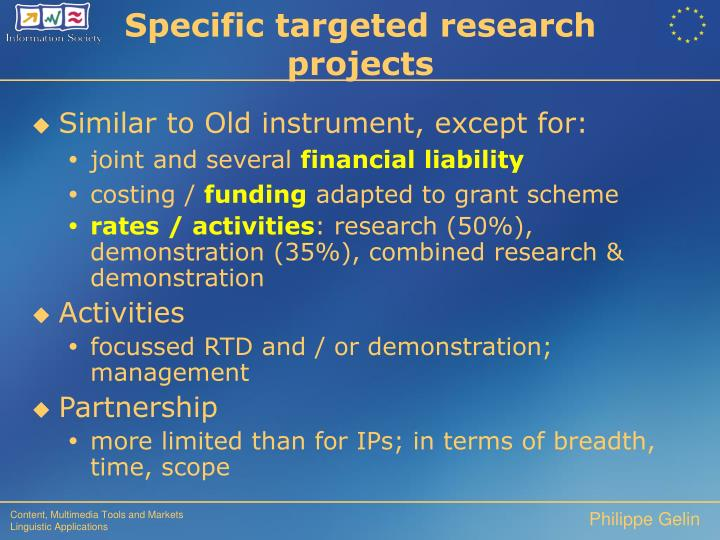 Specific targeted research projects