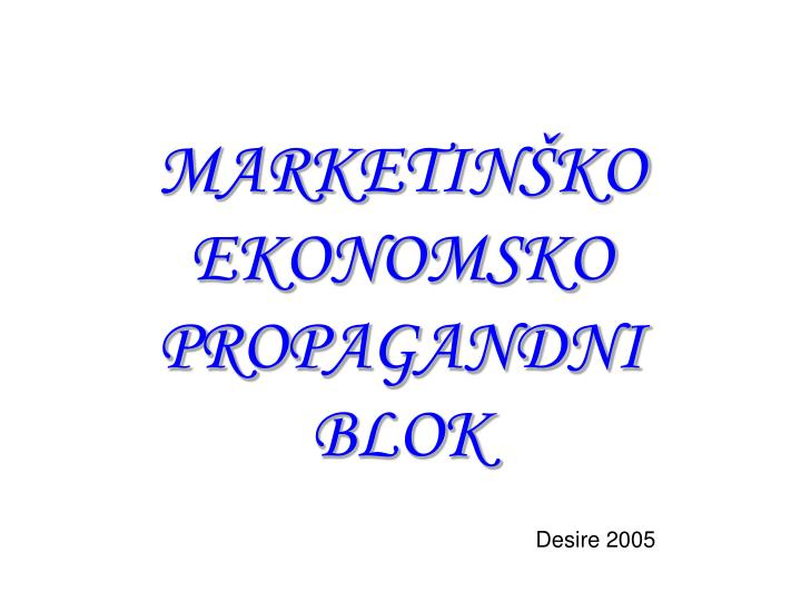 MARKETINŠKO