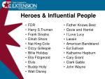 heroes influential people