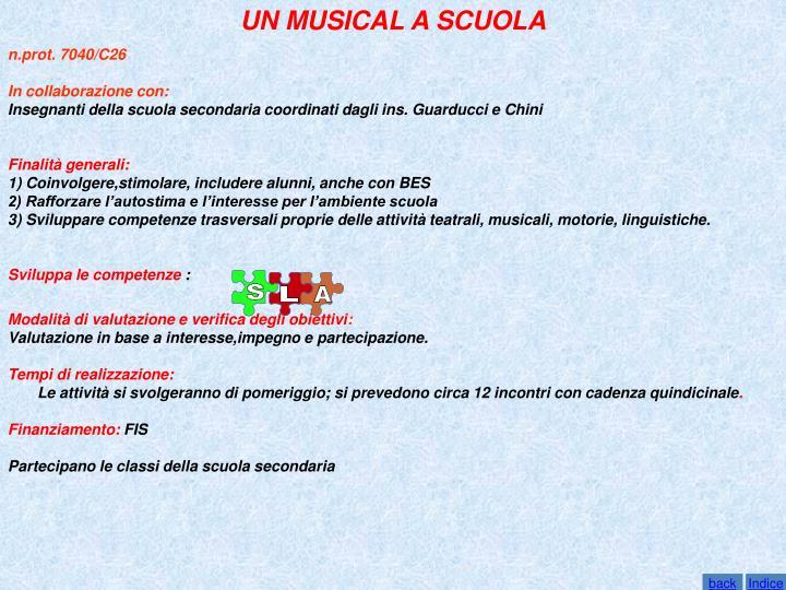 UN MUSICAL A SCUOLA