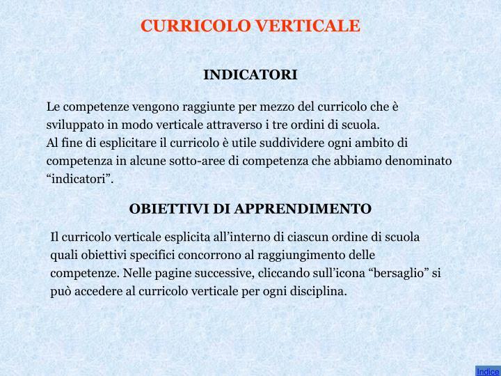 CURRICOLO VERTICALE