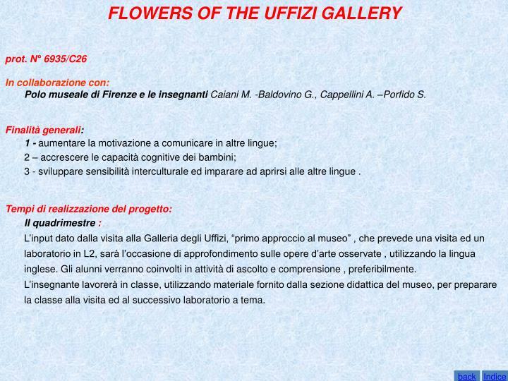 FLOWERS OF THE UFFIZI GALLERY
