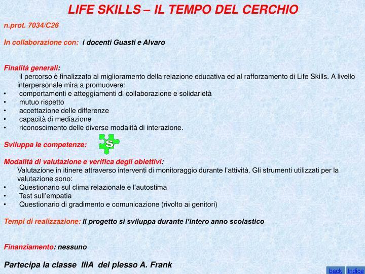 LIFE SKILLS – IL TEMPO DEL CERCHIO