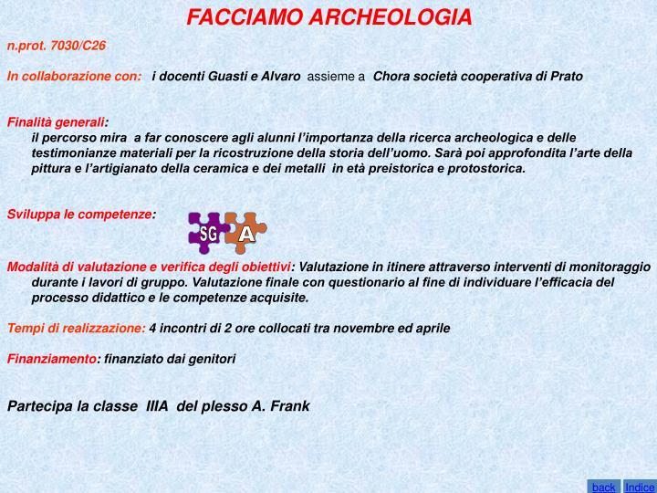 FACCIAMO ARCHEOLOGIA