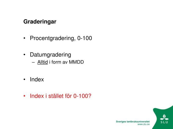 Graderingar