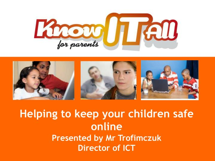Helping to keep your children safe online