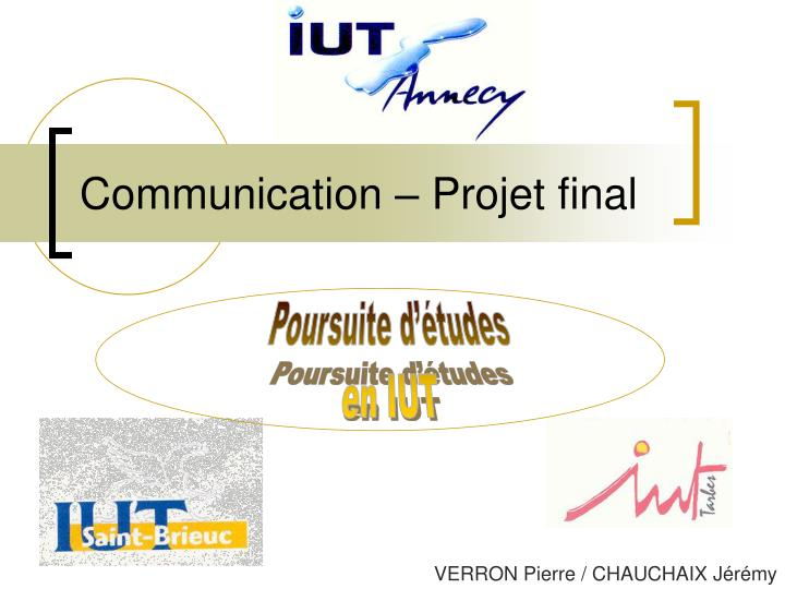 Communication projet final