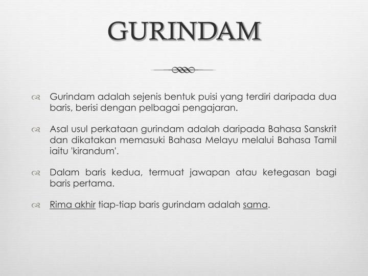 Ppt Gurindam Powerpoint Presentation Id 4892667