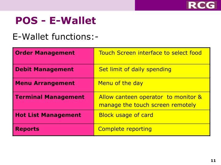 POS - E-Wallet