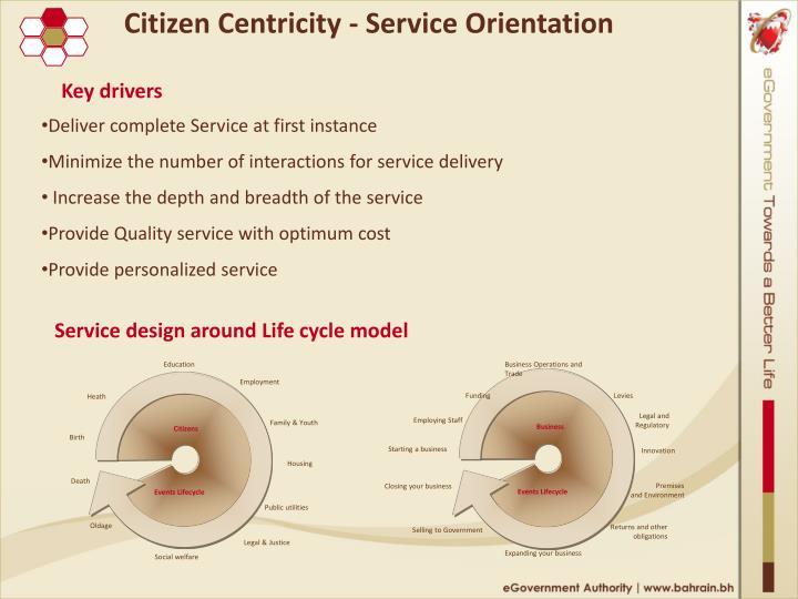 Citizen Centricity - Service Orientation