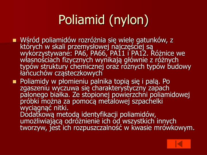 Poliamid (nylon)