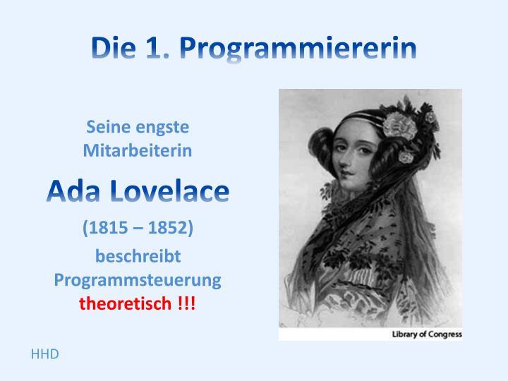Die 1. Programmiererin