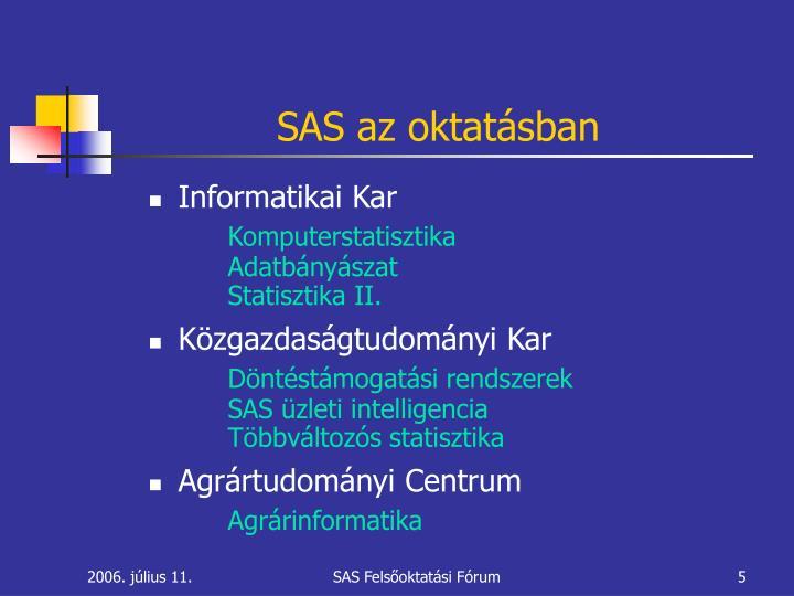 SAS az oktatásban