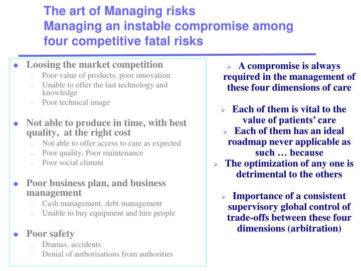 The art of Managing risks