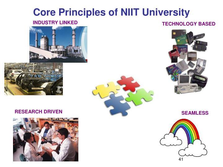 Core Principles of NIIT University