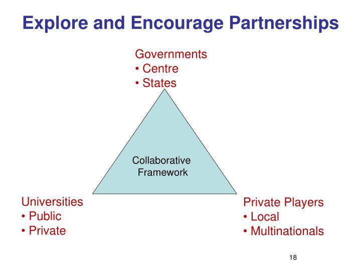 Explore and Encourage Partnerships