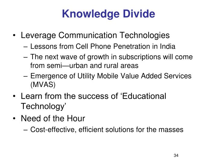 Knowledge Divide