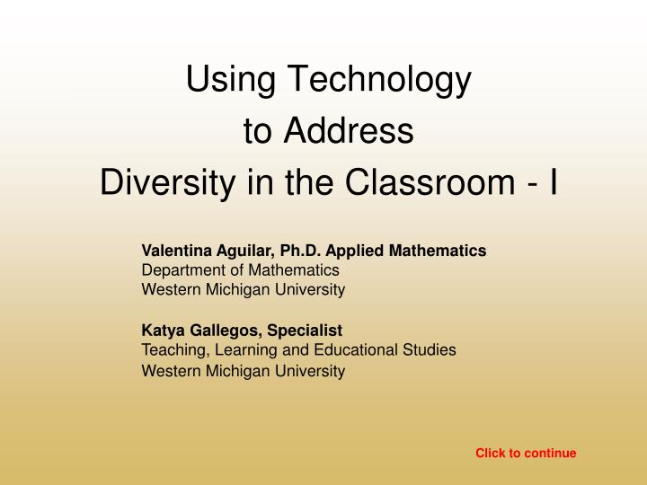 diversity in the classroom