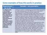 some examples of how this works in practice1