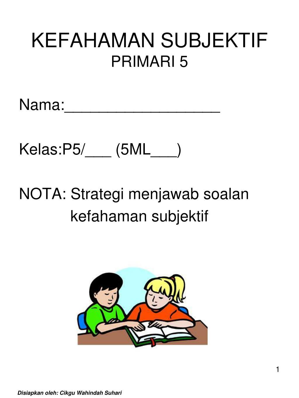 Ppt Kefahaman Subjektif Primari 5 Powerpoint Presentation Id 4894315