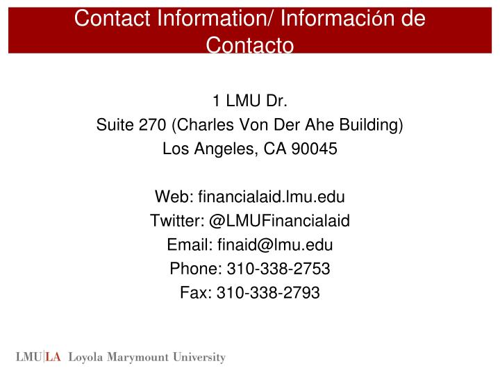 Contact Information/