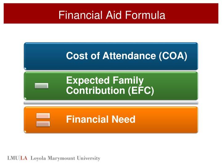 Financial Aid Formula