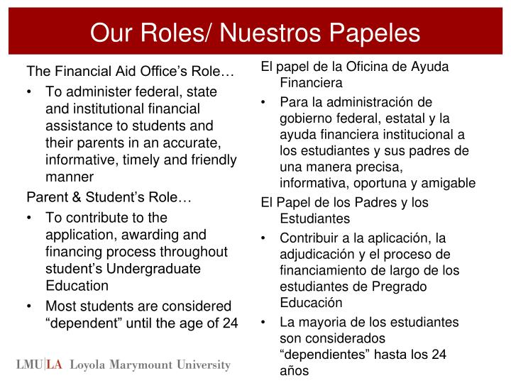 Our Roles/
