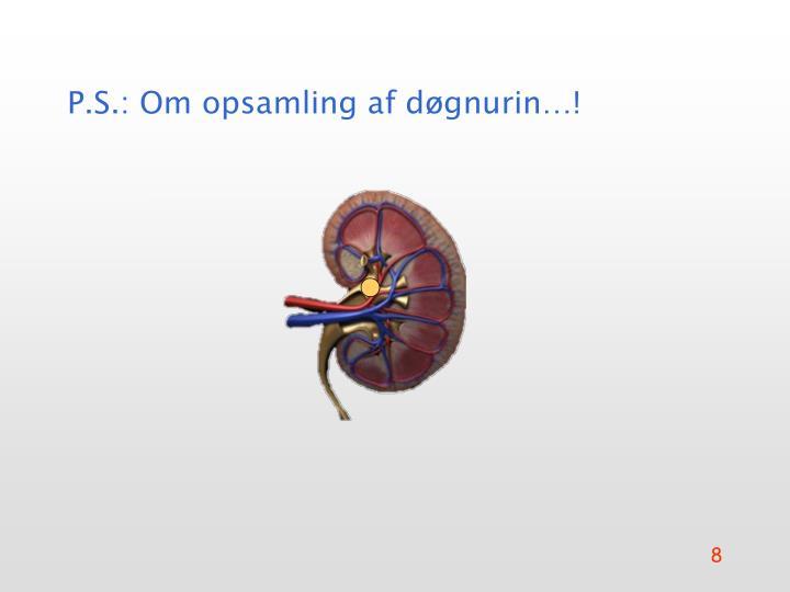 P.S.: Om opsamling af døgnurin…!
