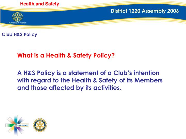 Club H&S Policy