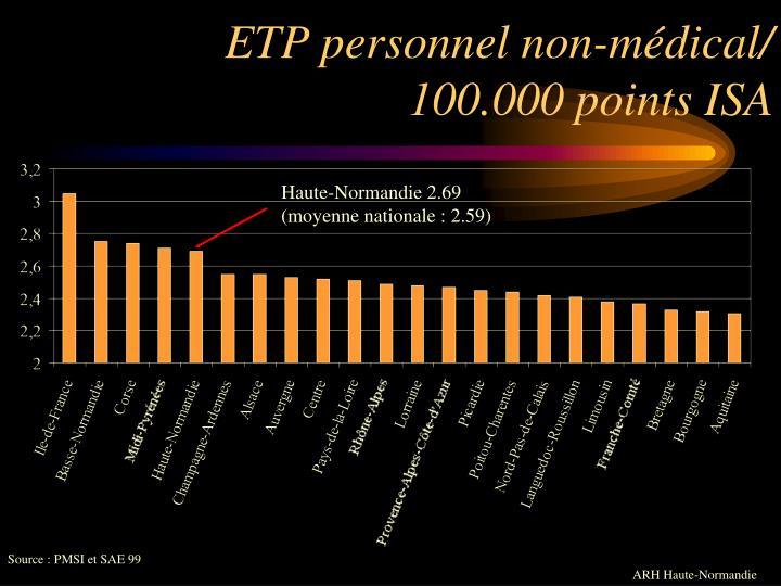 ETP personnel non-médical/