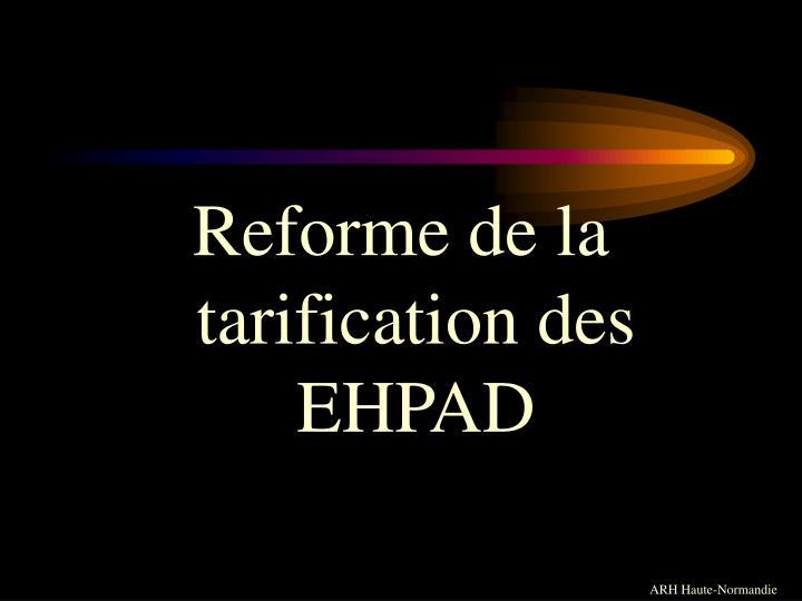 Reforme de la tarification des EHPAD