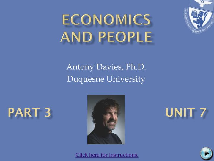 Economics and people