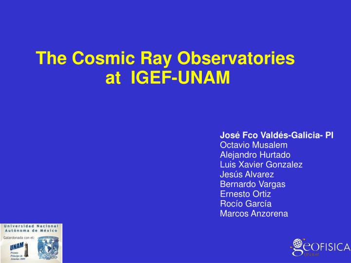 The Cosmic Ray Observatories