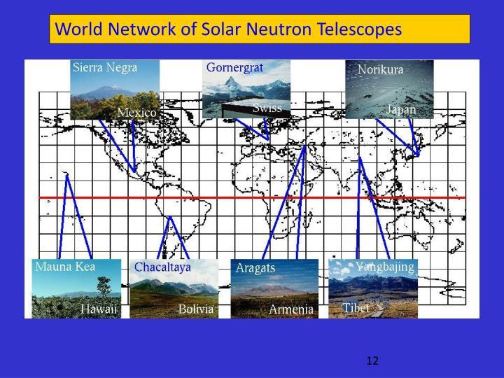 World Network of Solar Neutron Telescopes